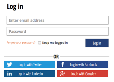 ecommerce with social logins
